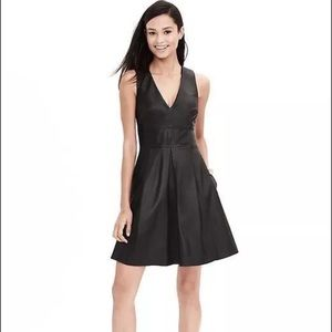 Banana Republic Monogram Black Leather Dress